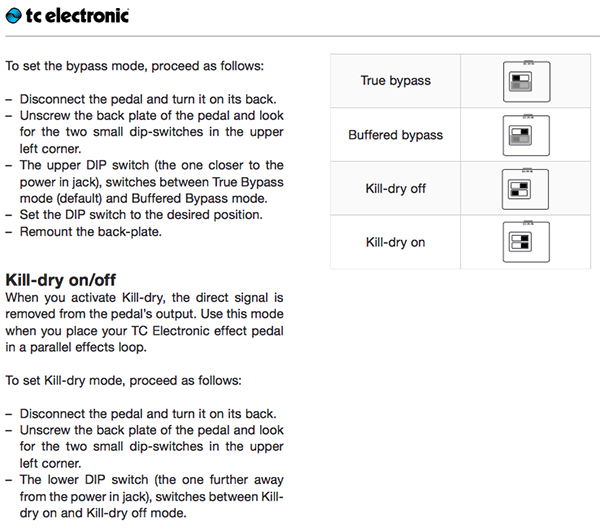 Screenshot of the manual showing DIP switch settings.