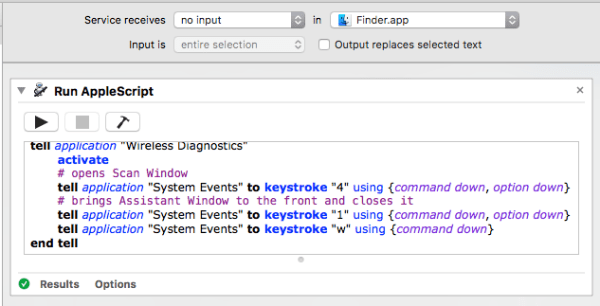 screenshot of Automator workflow
