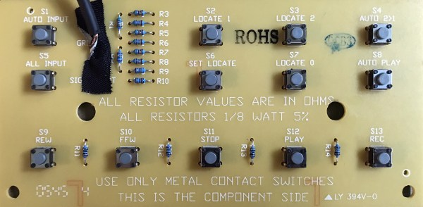 component side of PCB