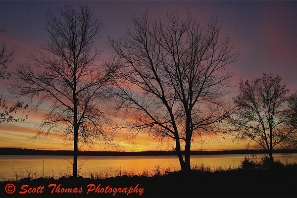 Sunset over Onondaga Lake from Onondaga Lake Park on November 2, 2008.