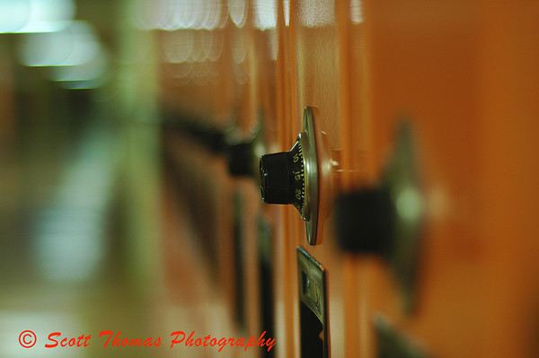 Lockers in C. W. Baker High School, Baldwinsville, New York.