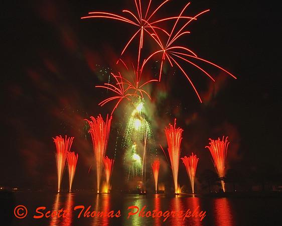 Illuminations in Walt Disney Worlds Epcot World Showcase.