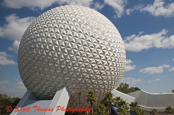 Epcots castle is Spaceship Earth
