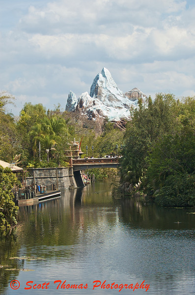 Expedition Everest looms over Disneys Animal Kingdom.