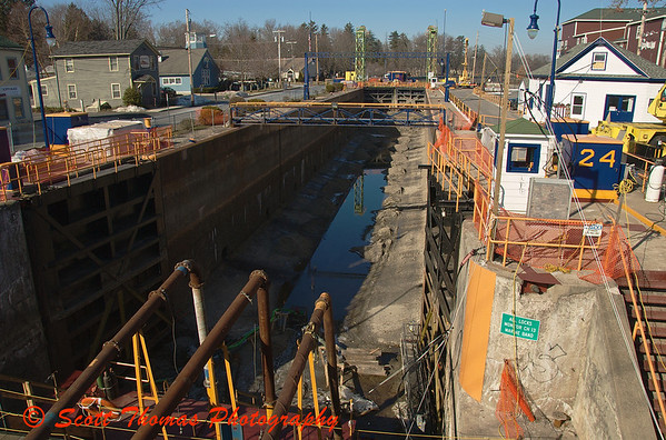 The New York State Canal Corporation has been working on Lock 24 during the off season.