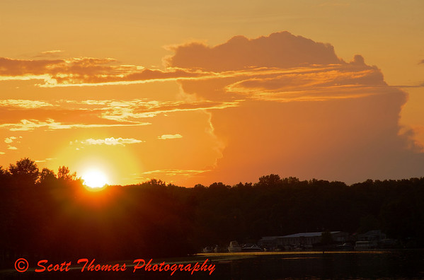 Sunset over the Seneca River in Baldwinsville, New York on Friday, June 26, 2009.