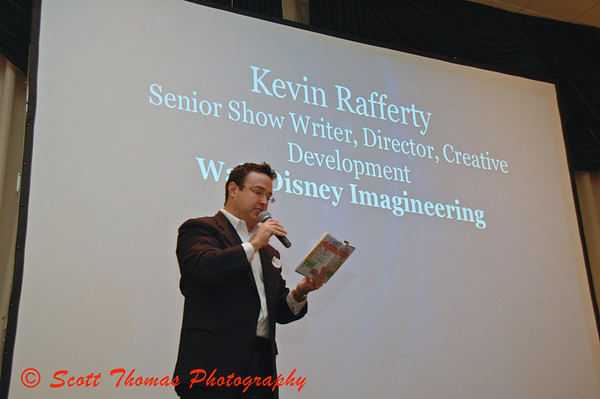 Walt Disney Worlds first Chief Magic Official, Justin Muchoney, speaking at MagicMeets on Saturday, August 8, 2009, in Harrisburg, Pennsylvania.