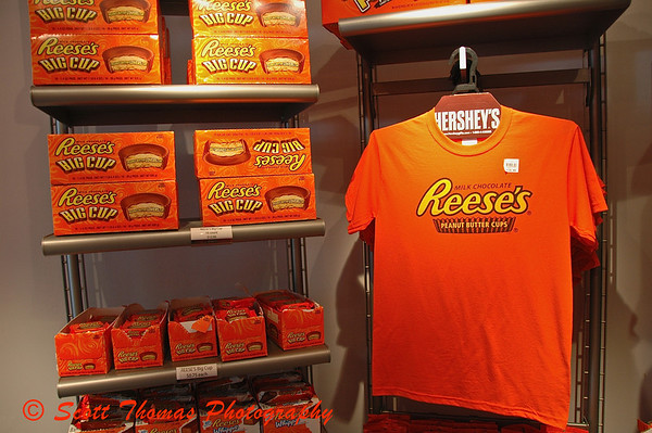 A Reeses display found in Hersheys Chocolate World.