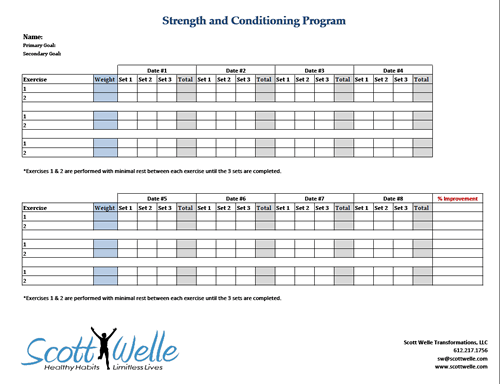 weight training schedule template - Kleo.beachfix.co