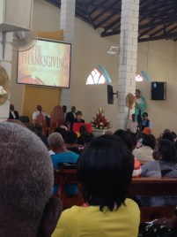 US Ambassador to the Eastern Caribbean, Linda Taglialatela, speaks to the congregation.