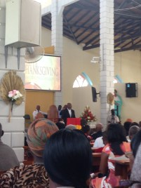 The Bishop of Grenada, Clyde Harvey, speaks to the congregation.