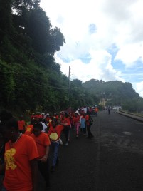 What follows are photos from the March Against Child Sexual Abuse, that occurred in Gouyave by all the area schools to conclude Child's Month Activities.