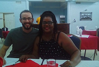 Myself with my St. Lucian host mother Julie.