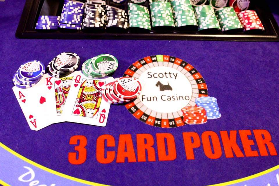 Three Card Poker - Casino Night, Events, Hire, Scotty Fun Casino, Essex, London v42 (1)
