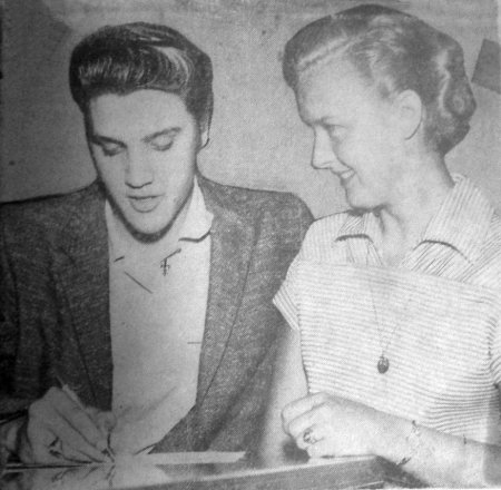 Image result for June 13, 1956, Elvis and June Juanico
