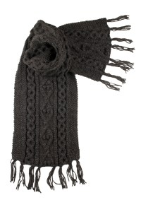 Luxury Hand-Knitted Aran Scarf by Scotweb