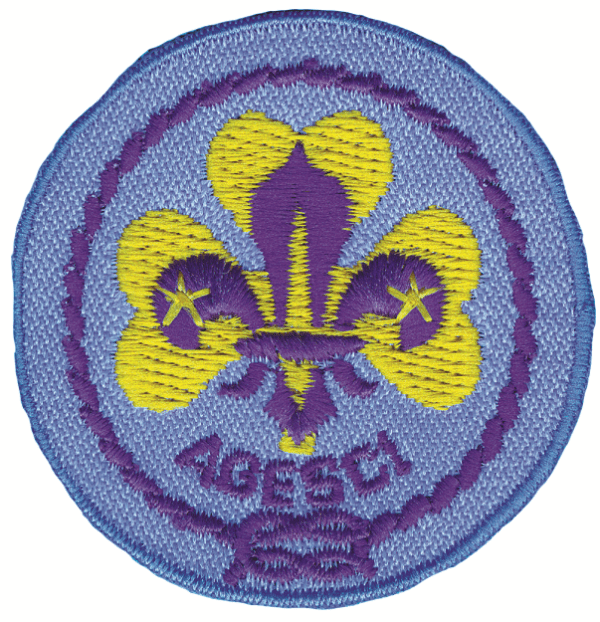 Promessa scout ricamata