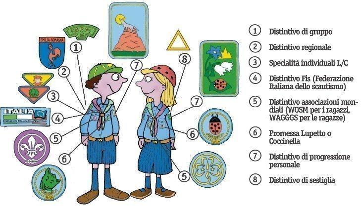 Distintivi scout branca LC: dove si mettono