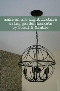 DIY Orb Light Fixture | Scout & Nimble