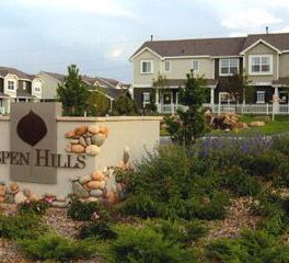 Aspen Hills Sign With Houses