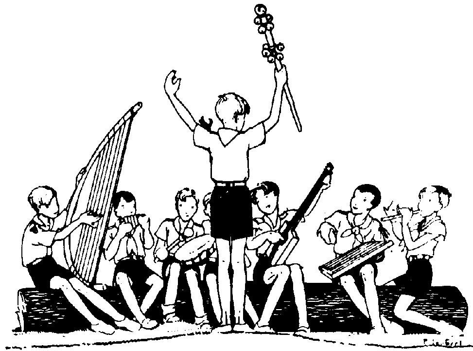 Instruments de scoutisme.