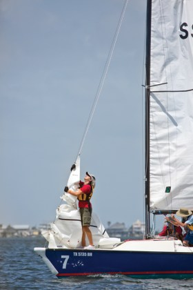 Sea Scout Base-Galveston Raising Jib