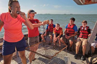 Chesapeake Bay Troop 99 Fishing