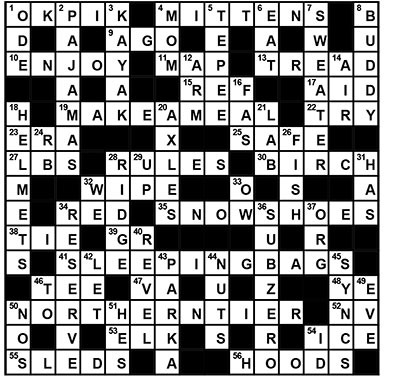 WinterCampCrossword