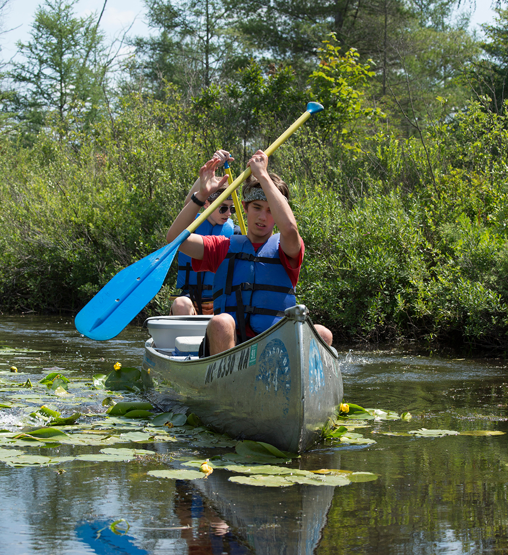 Cole offers Scouts like Andrew Harrast (front) and Michael Jensen of Troop 648 from Mount Pleasant, Mich., a range of paddling options: from a half-day trek to a four-day 50-miler.