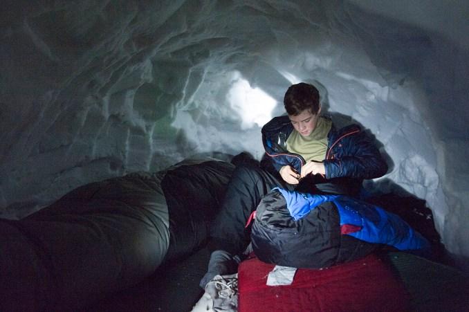 WinterCampSleeping