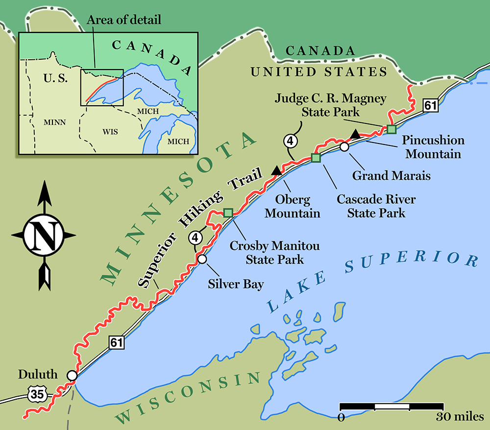 Superior-Hiking-Trail-Map