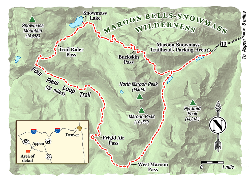 Plan a backpacking trip on colorado 39 s four pass loop for Colorado plan