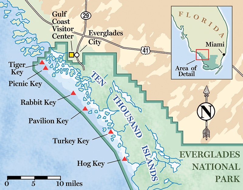 Everglades Florida Map.Paddle To Discover The Mythical Ten Thousand Islands In Florida