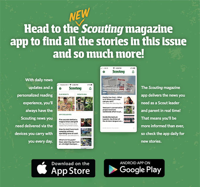 Head to the Scouting magazine app