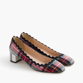 rick rack plaid heels