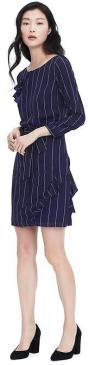 navy pinstripe dress