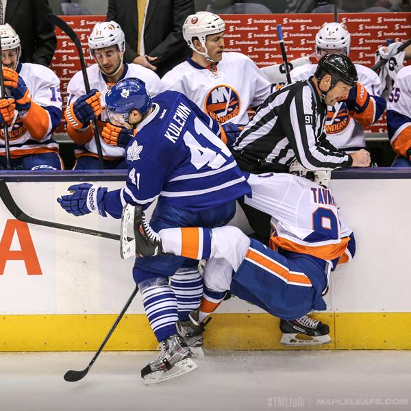 Tavares Checked Into Linesman's Crotch