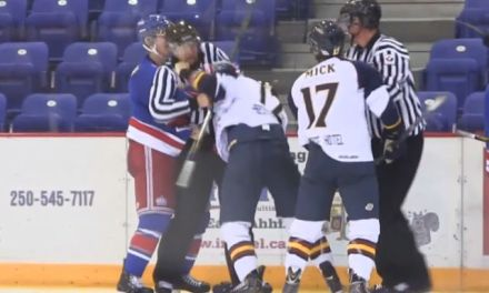 BCHL Linesman KO'd in Fight