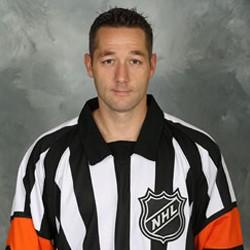 NHL Referee Darcy Burchell #42