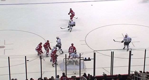 Wings Tie Game on Questionable Goal; Puck in Netting