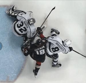 Tim Jackman Interference on Kings Goaltender Jonathan Quick