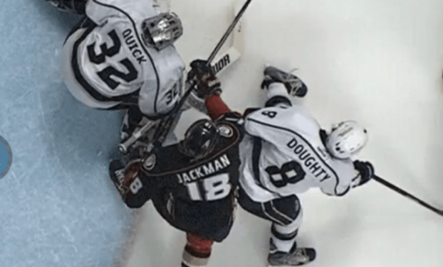 Goaltender Interference Sparks Ducks Win