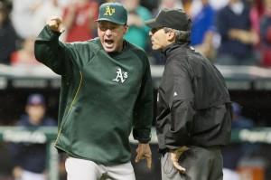 Oakland Athletics v Cleveland Indians Manager Bob Melvin