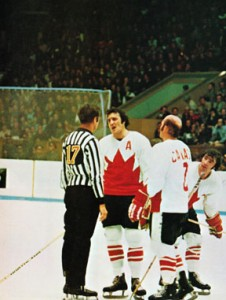 Canada's Phil Esposito Argues with Referee Josef Kompalla at the 1972 Summit Series