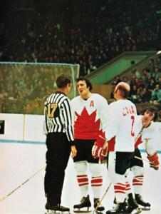 Canada's Phil Esposito Argues with Referee Josef Kompalla at the 1972 Summit Series