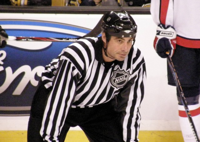 NHL Linesman Derek Amell (#75) (Image: Dan4th Nicholas)