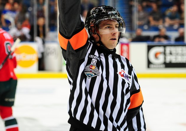 AHL Ref Kendrick Nicholson Signs with NHL