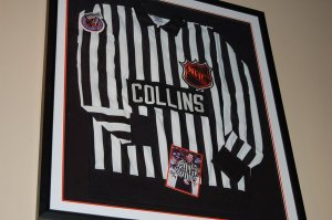 NHL Linesman Kevin Collins' Jersey Hangs at Mulberry Street Pizza in Manchester, CT