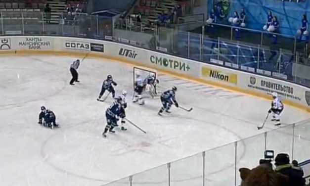 Injured KHL Player Throws Stick at Ref