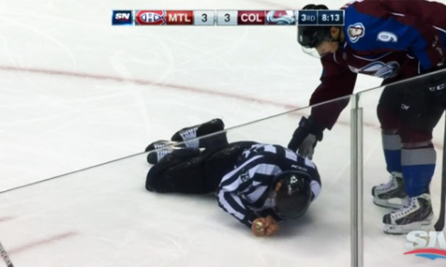 Linesman Derek Amell Injured by Slewfoot
